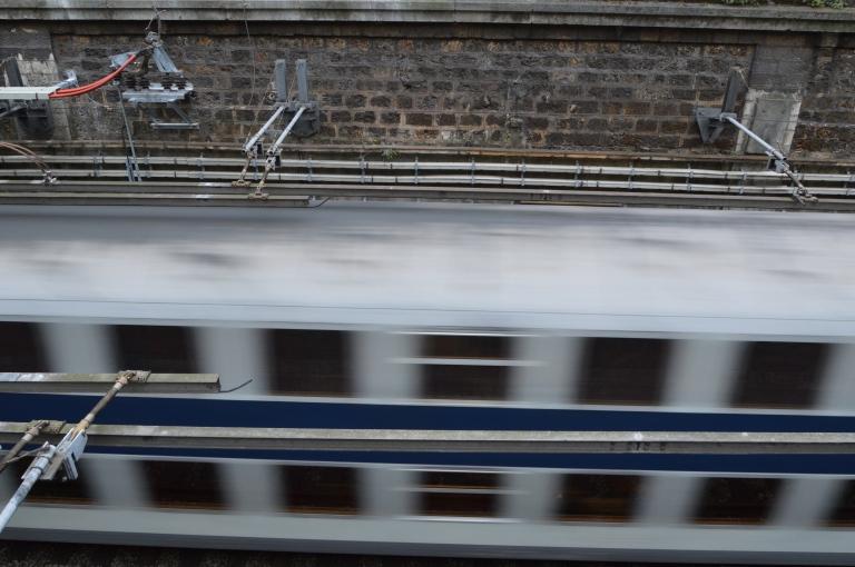 Vitesse d'obturation - Train dans Paris