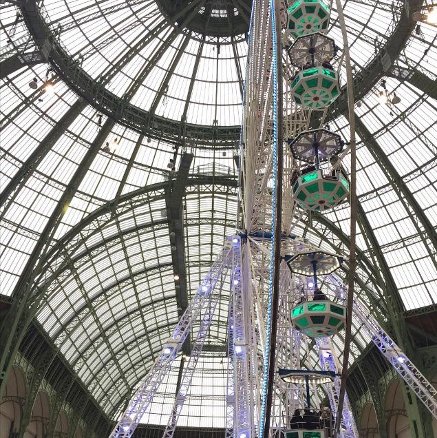 Grande roue au Grand Palais W/ Stéphanie - La moustache bleue
