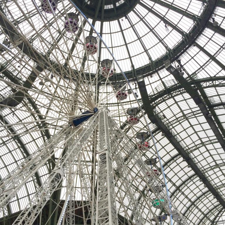 Grande roue sous la verrière du Grand Palais W/ Stéphanie - La moustache bleue