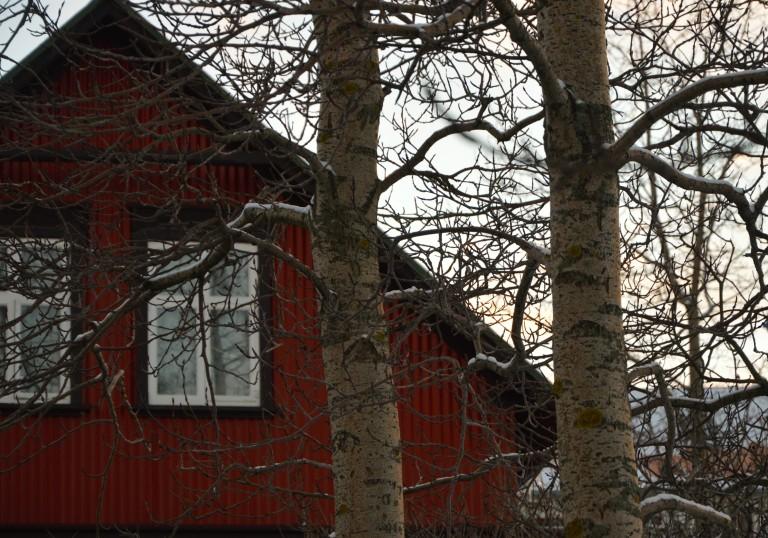 Maison rouge de Reykjavik