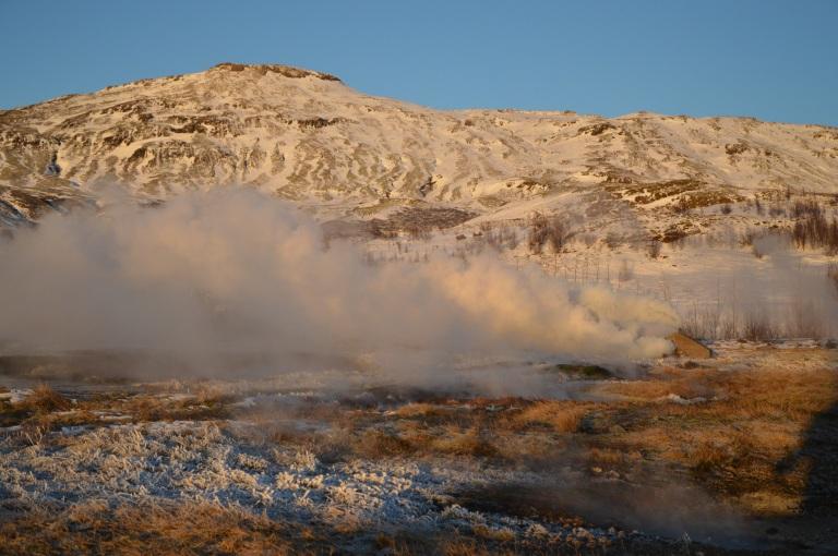 Dans le champ de géothermie de Geysir