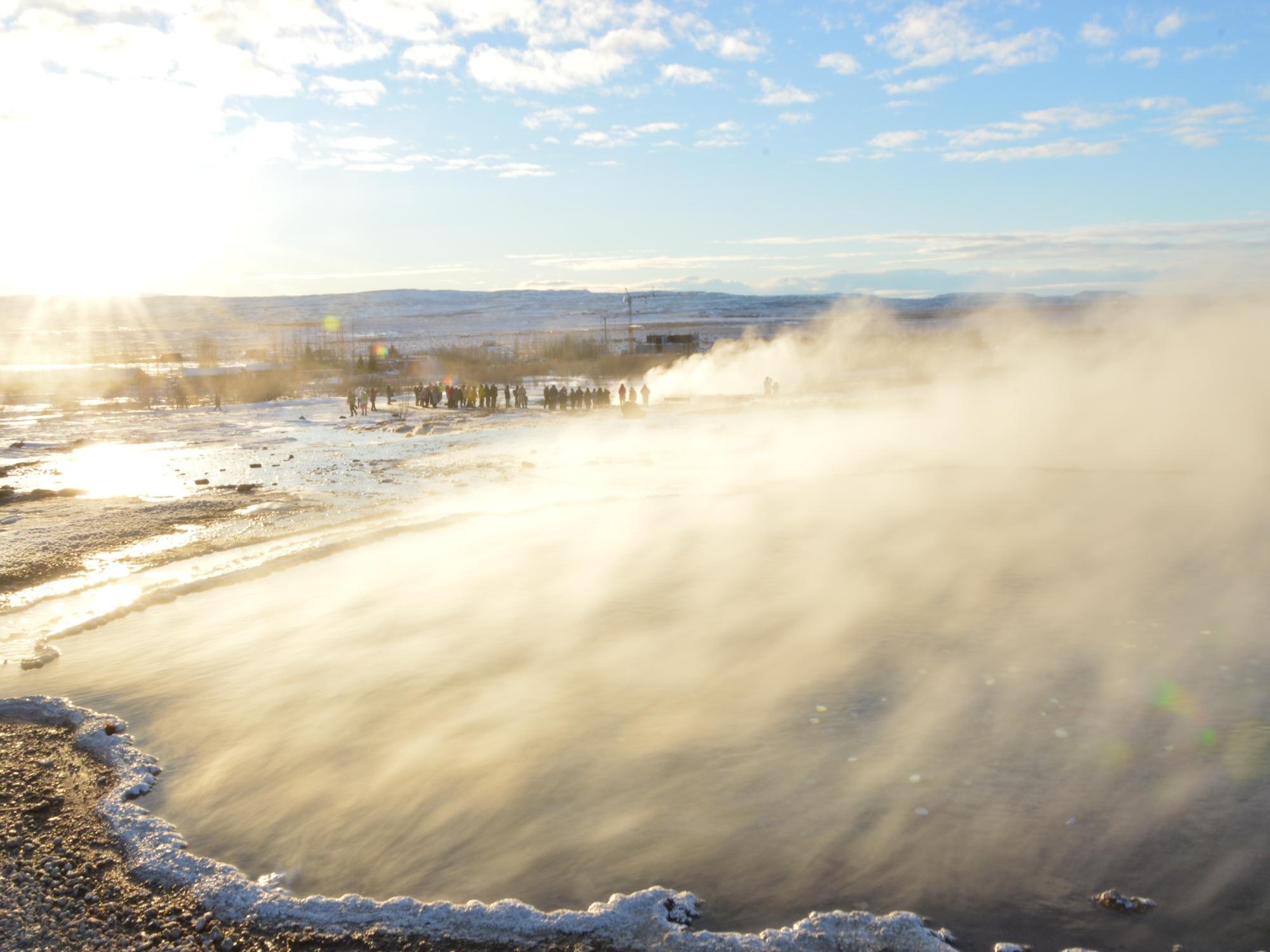 Sources chaudes à Geysir