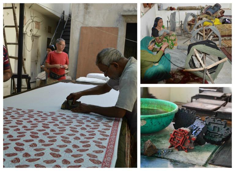 Imprimerie sur tissu en Inde