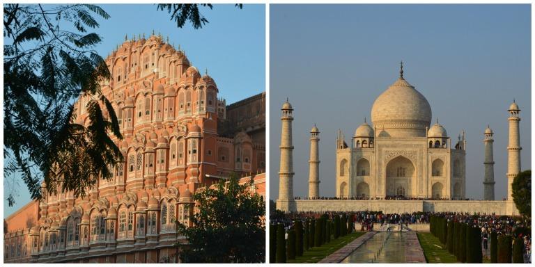 Palais des Vents et Taj Mahal