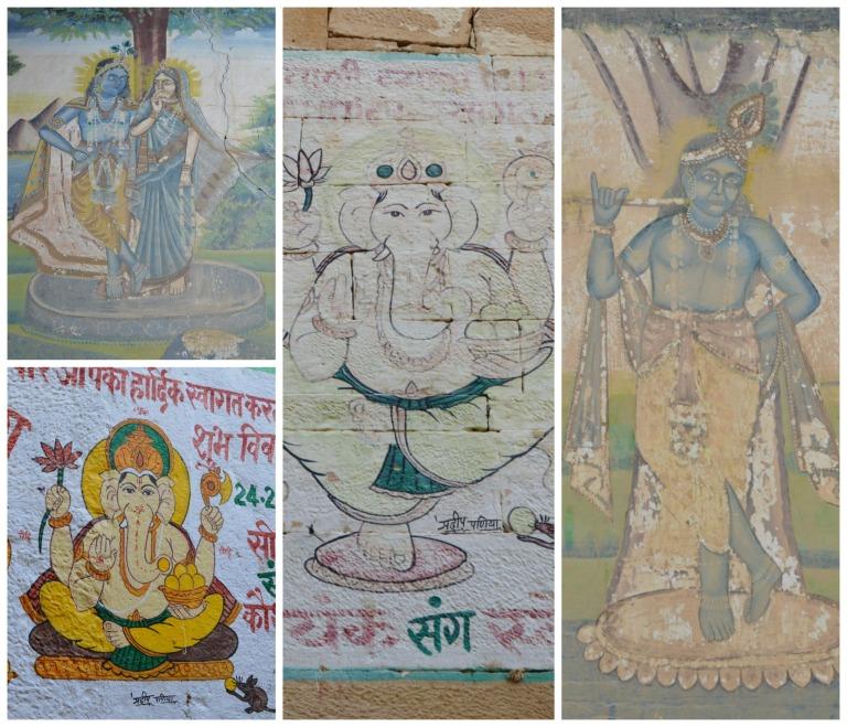 Peintures de Ganesh en Inde
