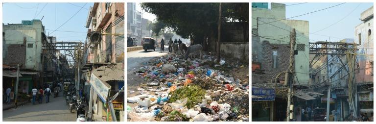 Déchets dans les rues indiennes
