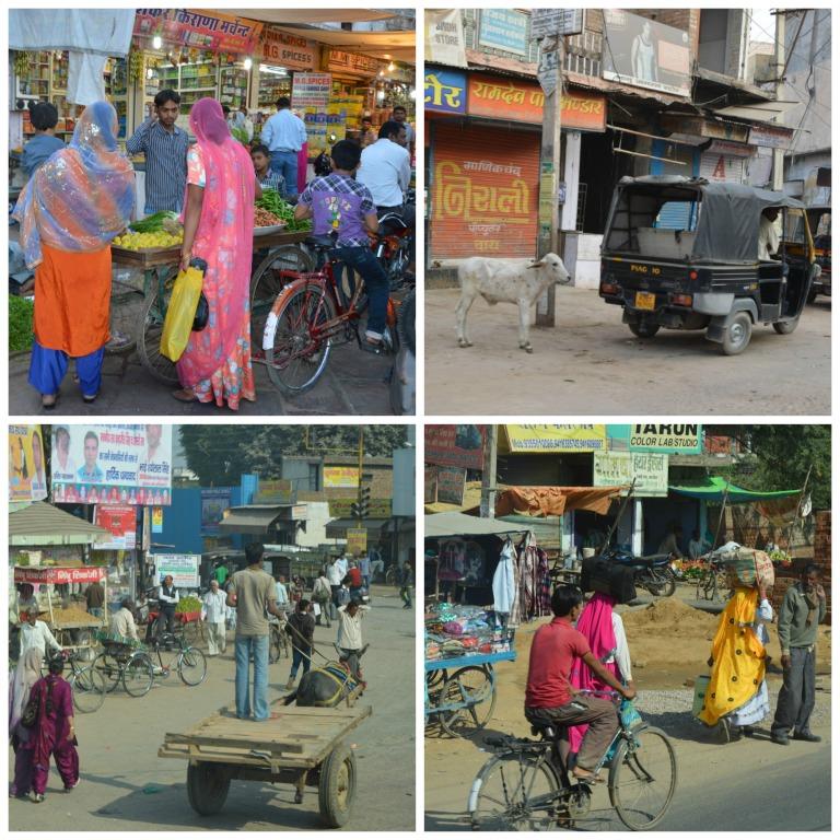 Dans les rues en Inde