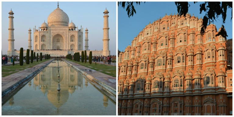 Taj Mahal et Palais des Vents