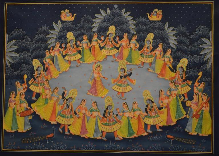 Ecole de peinture miniature en Inde