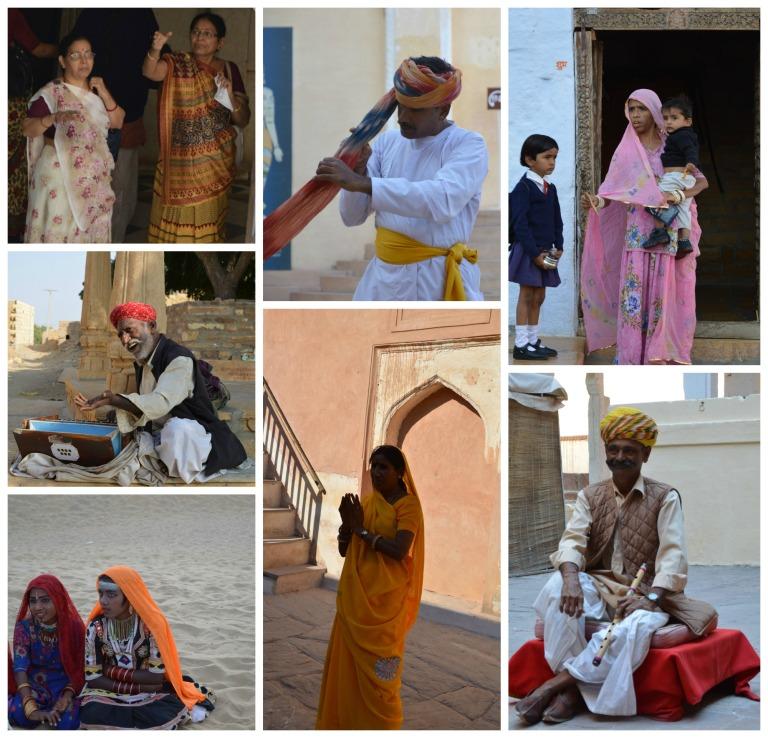 Les Indiens en habits traditionnels